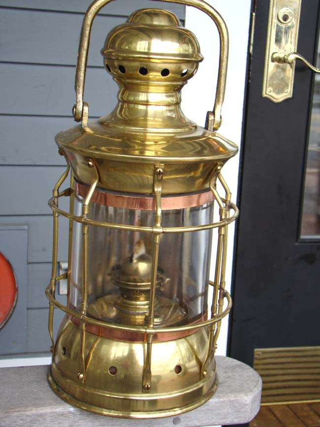 click to view larger image of An Antique Ships' Bulkhead Lamp, American circa 1900-1920