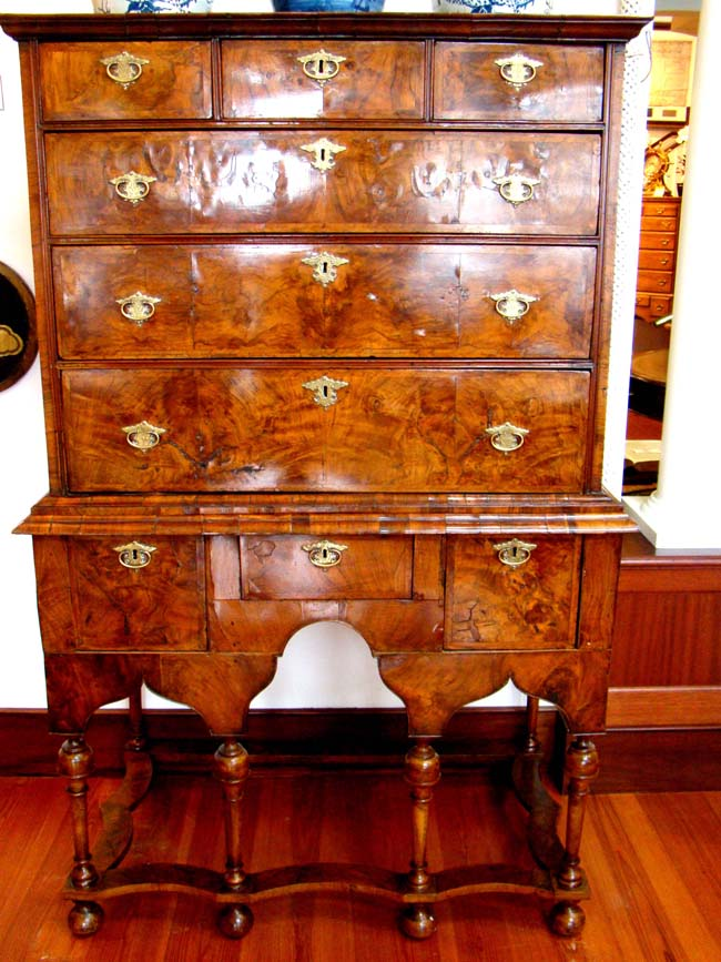 click to view larger image of A William and Mary Walnut Chest on Stand circa 1690