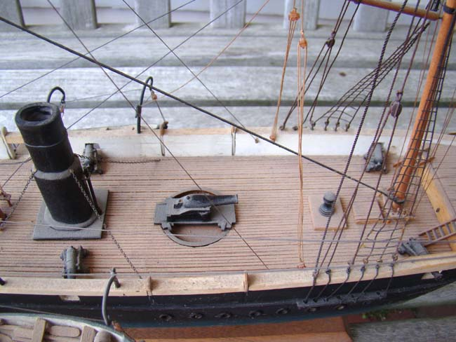 click to view larger image of A model of the Civil War gun ship U S S KEARSARGE