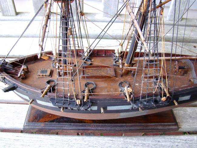 click to view larger image of A model of the Privateer 'ALERT' of Salem built in 1798