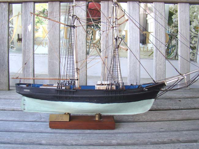 click to view larger image of A model of the Brigantine NEWSBOY built in Maine in 1854