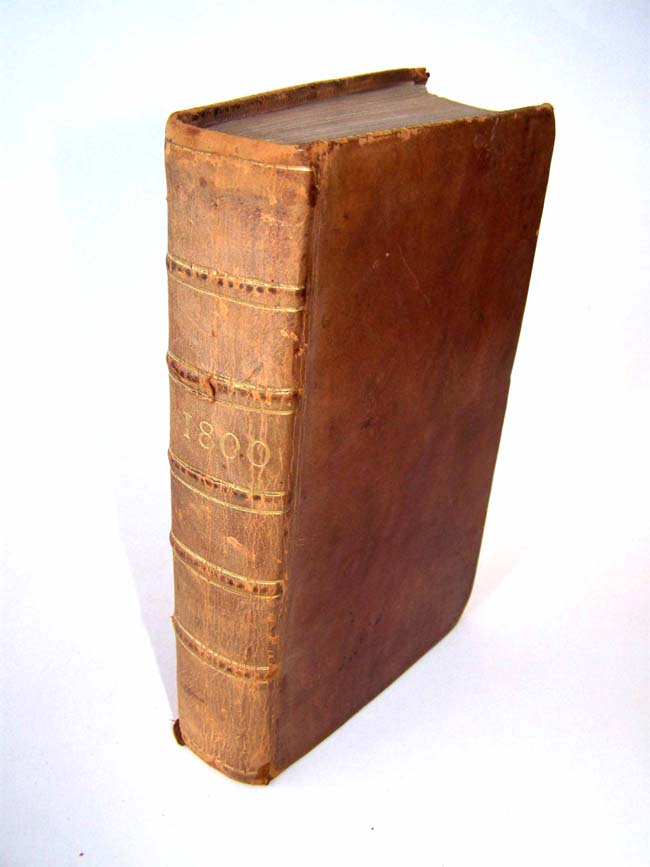 click to view larger image of A Rare Full Leather Bound Copy of the Annual Register for England, Scotland, Ireland and America for the year 1800.