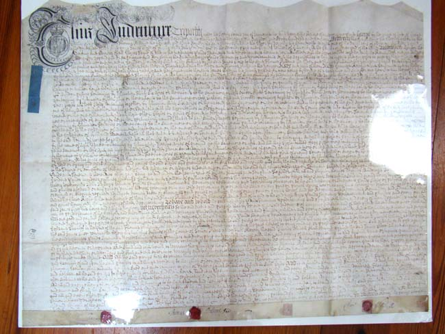 click to view larger image of A George I period Trust Indenture on vellum dated January 22, 1714