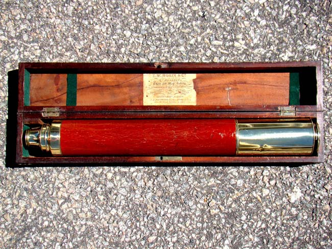 click to view larger image of A fine cased 19th century telescope by J.W. Norie & Co., London, circa 1820-1830
