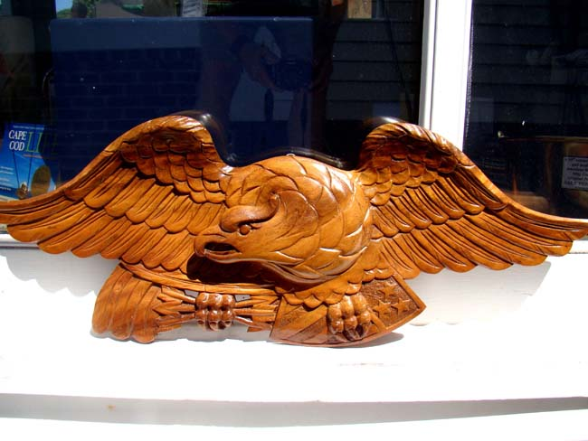 click to view larger image of A lovely carved vintage American Eagle