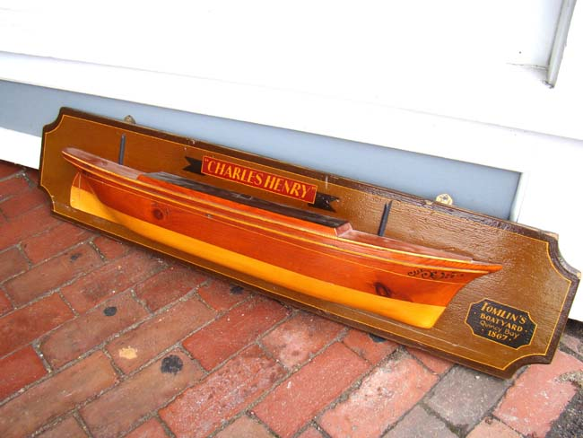 click to view larger image of A very attractive early 20th century American Half Hull Model of the ship