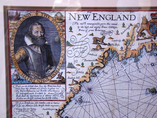 click to view larger image of A fine reproduction map of Capt. John Smith,s Map fo New England first published in 1614
