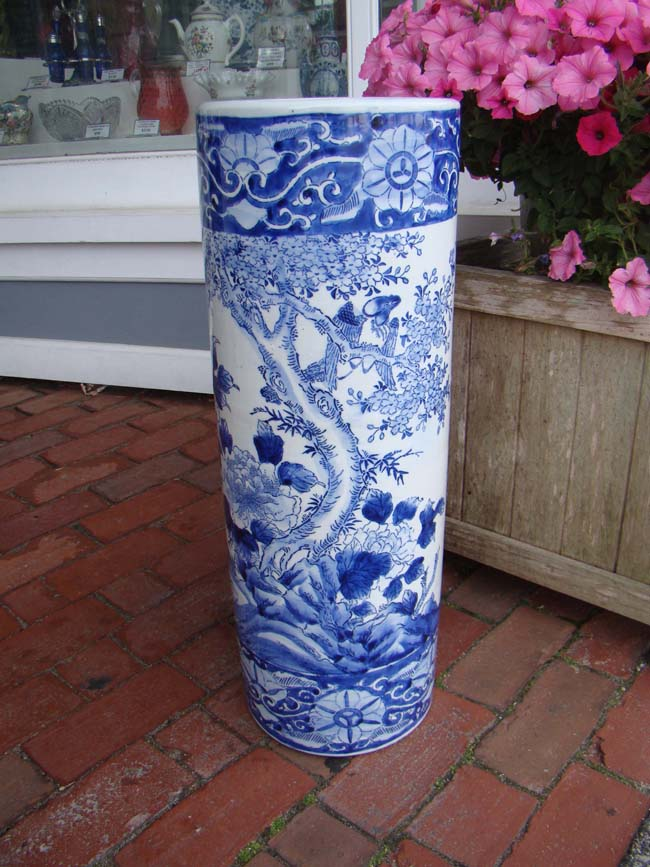 click to view larger image of An extremely attractive vintage Chinese umbrella stand