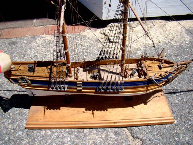 Mortars On Ships : A model of late th century english two masted sloop