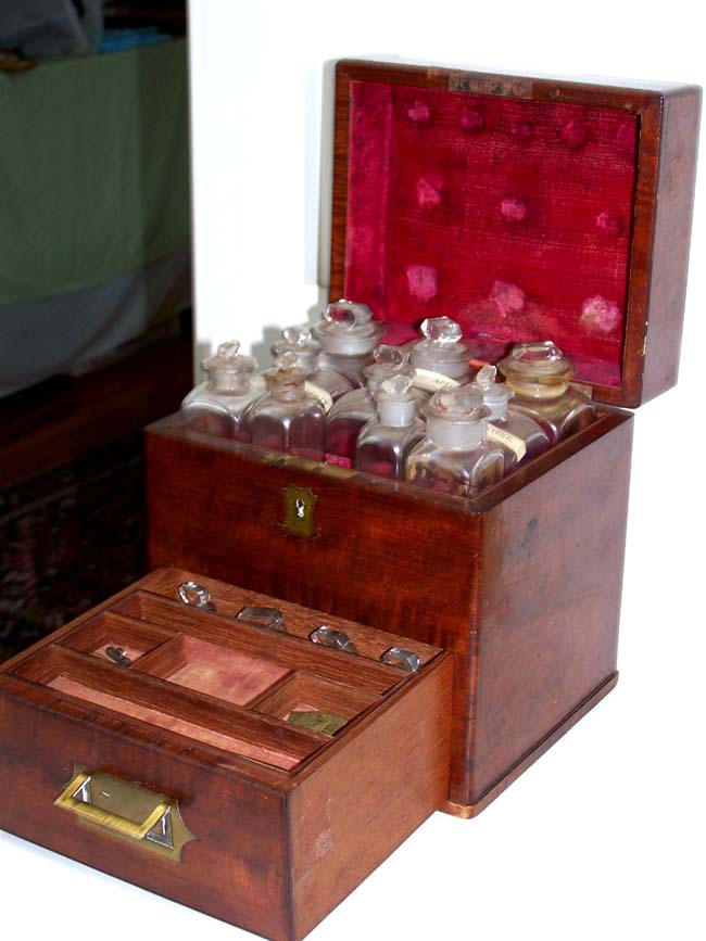 click to view larger image of A wonderful antique Ships' Medicine Chest circa 1830 made by SPRINGWEILER of London.