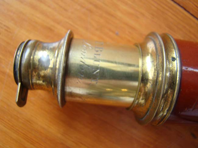 click to view larger image of A fine 18th century spyglass made circa 1785 by Thomas Blunt, Royal Instrument Maker to His Majesty, King George III