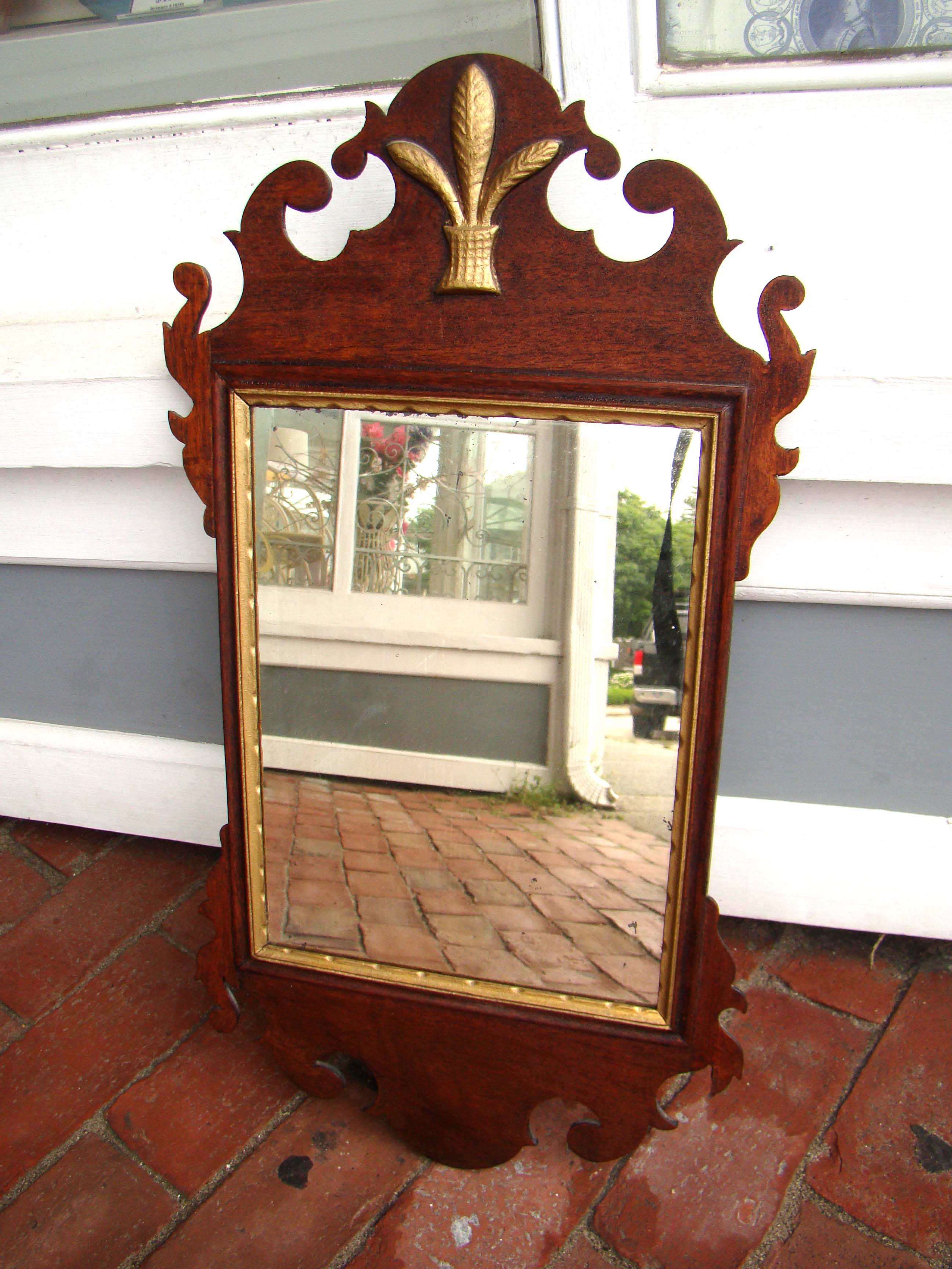 click to view larger image of A fine historic American Chippendale style mirror circa 1790