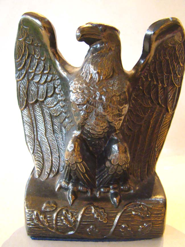 click to view larger image of A nice pair of vintage American eagle bookends