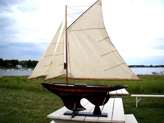 click to view larger image of A large NANTUCKET sloop pond boat