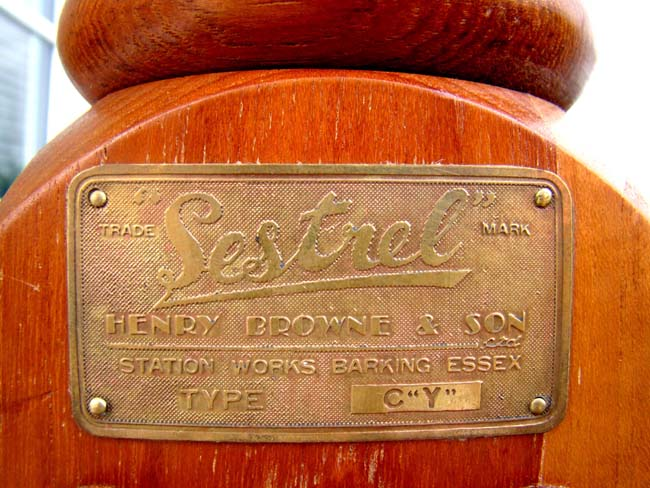 click to view larger image of A quarter size Ship's Binnacle made by Sestrel, Henry Browne & Sons, Barking, Essex, England
