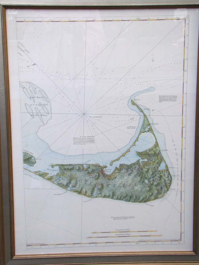 click to view larger image of Map of NANTUCKET by I F W Des Barres originally published in 1781