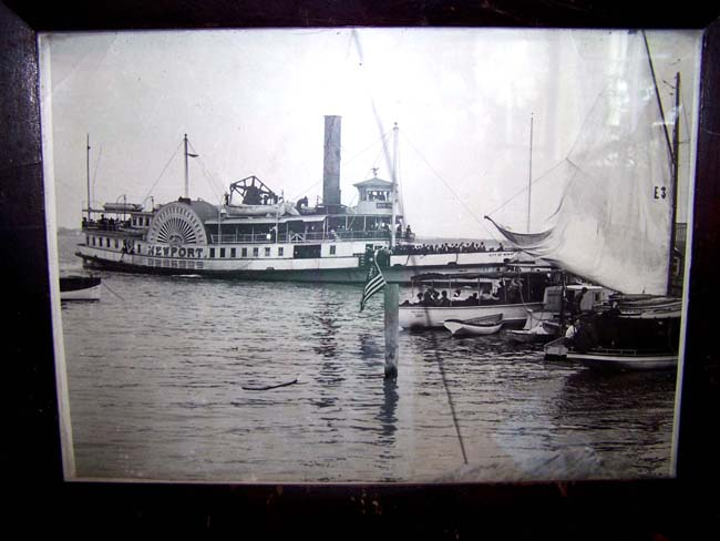 click to view larger image of A late 19th century Photograph of the Paddle Wheeler