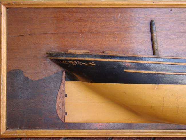 click to view larger image of An attractive half hull model of the three-masted ship
