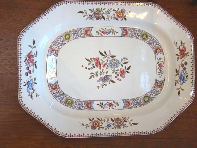 click to view larger image of A beautiful Serving Platter by Copeland Spode made in 1907.