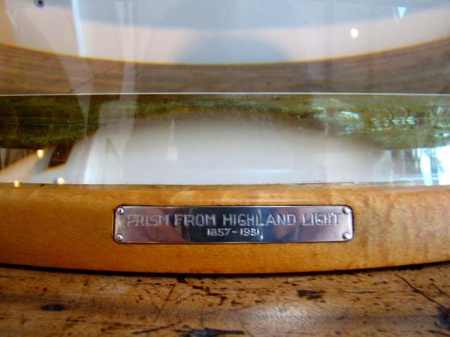 click to view larger image of A section of the Fresnel Lens Prism removed the Highland Lighthouse in 1951