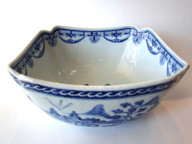 click to view larger image of A gorgeous19th century Chinese cut-corner bowl