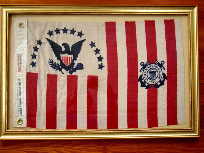 click to view larger image of A U. S. Coast Ensign made between 1915 and 1953