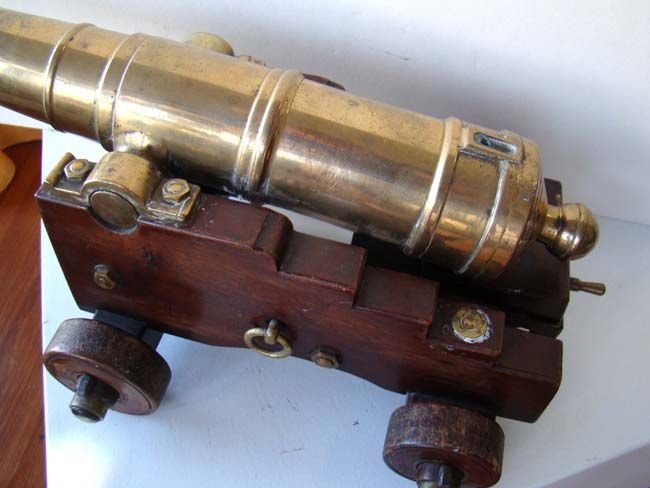 click to view larger image of A late 19th or early 20th century model of a War of 1812 period naval cannon