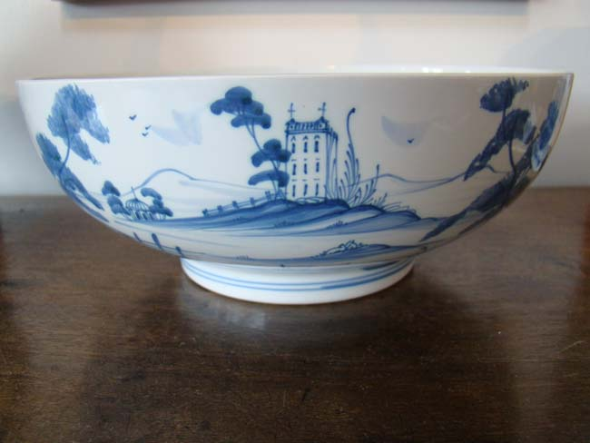 click to view larger image of A Palladian blue pattern English Delft bowl by Deborah Sears