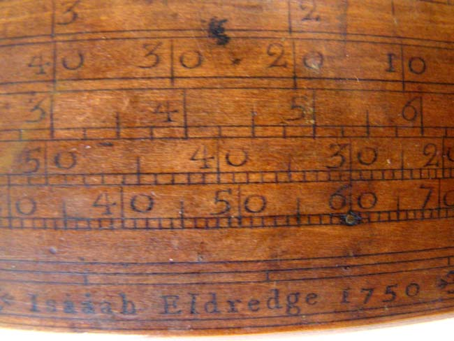 click to view larger image of The Earliest Known and Rarest Signed and Dated Cape Cod Sea Captain's Navigational Instrument