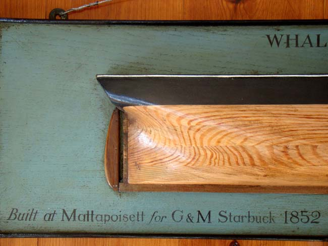 click to view larger image of A late 19th or early 20th century Half-Hull Model of the Whaling Ship