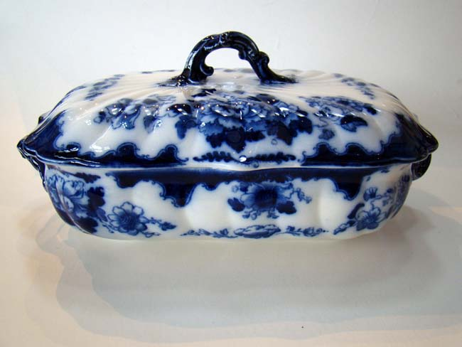 click to view larger image of A lovely vintage covered vegetable dish marked 'Gresham B & S'