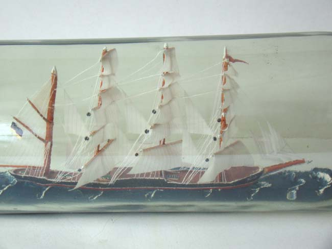 click to view larger image of A nicely made four masted ship-in-a 19