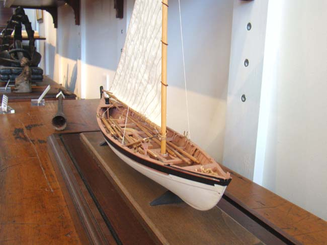 click to view larger image of A 20th century scratch built Scale model of a 19th century Nantucket Whale Boat