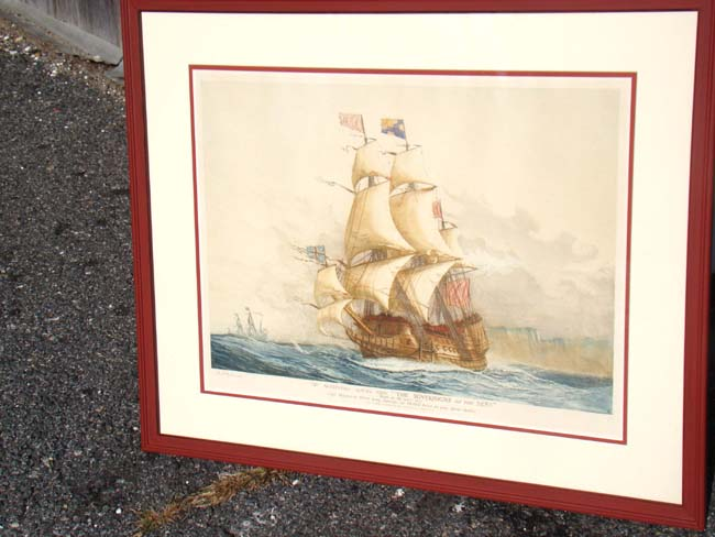 click to view larger image of A fine hand colored 'artists proof' watercolor drawing of