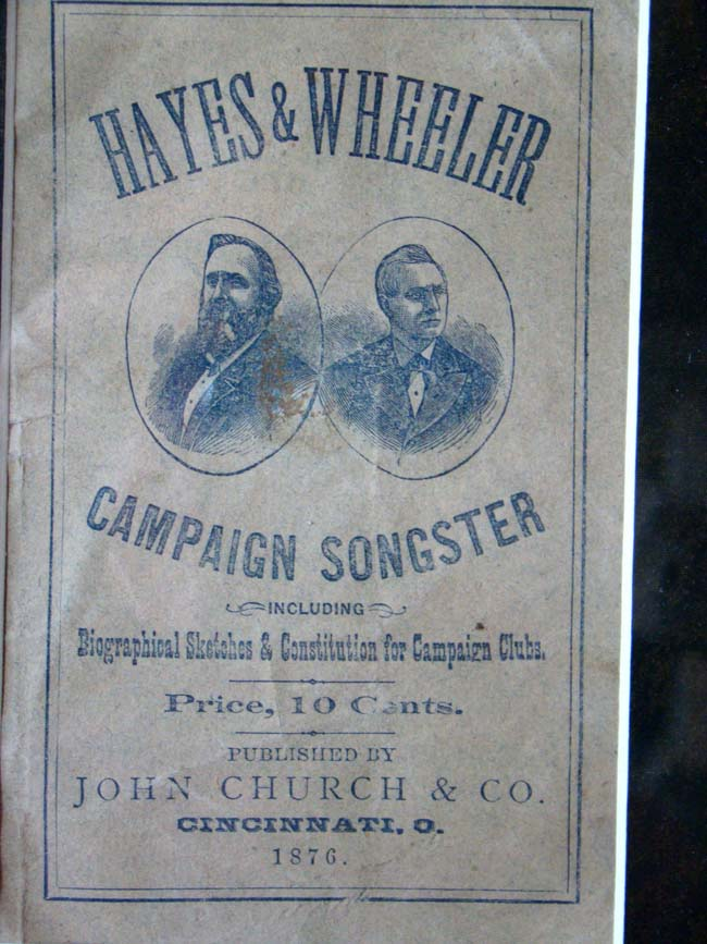 click to view larger image of A Rutherford B. Hayes & William A. Wheeler 1876 Campaign Songster