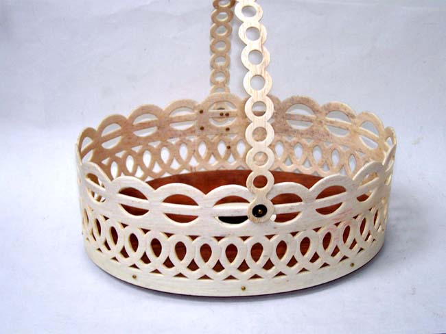 click to view larger image of An Exquisite Handcrafted Whalebone 'WHALERS' Basket made by Chatham Artist Ken Campbell