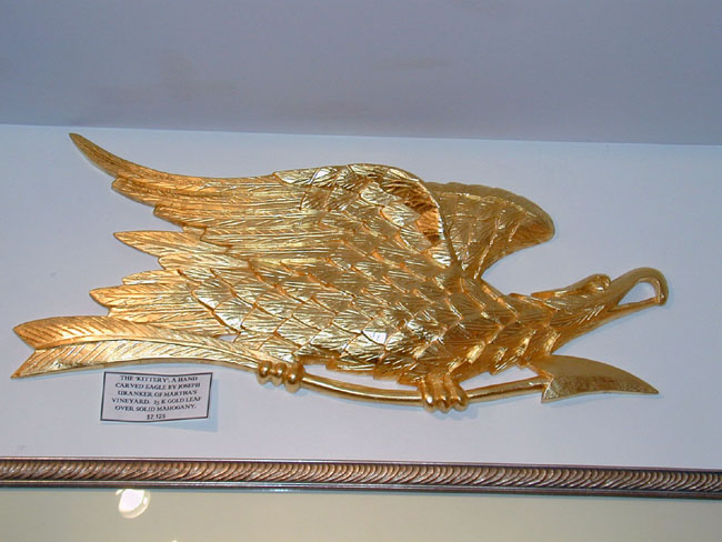 click to view larger image of The 'Kittery' Hand Carved Eagle by Joseph Uranker of Martha's Vineyard