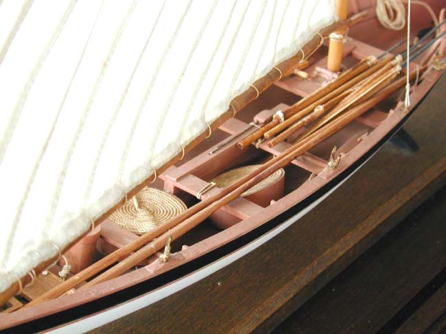 click to view larger image of A Fine 20th century Scale Model of a Nantucket Whale Boat