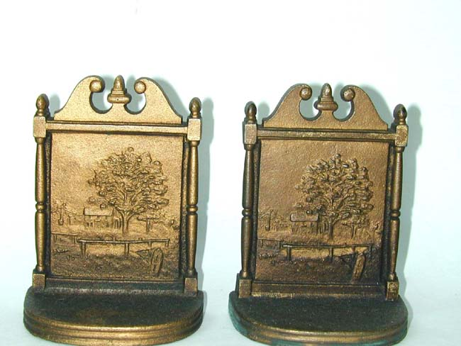 click to view larger image of A pair of Bradley & Hubbard Antique bookends circa 1925