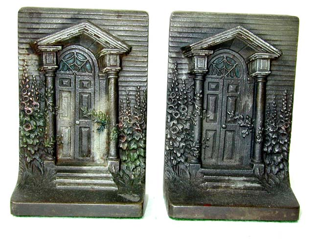 click to view larger image of A Pair of Bradley & Hubbard Antique Bookends circa 1910