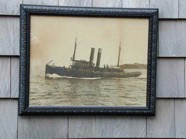 click to view larger image of An Original Albumen Print of the Tugboat 'Nottingham' by Nathaniel L. Stebbins circa 1900