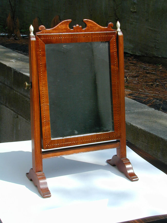 click to view larger image of Walnut Dressing Mirror, England or New England, Circa 1800