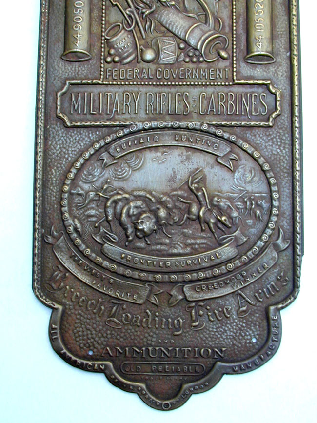 click to view larger image of Sharps Rifle Company Brass Advertising Plate Circa 1875