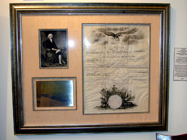 click to view larger image of A Fine and Rare Naval Commission for Master Commandant David Deacon signed by President James Madison December 1, 1814