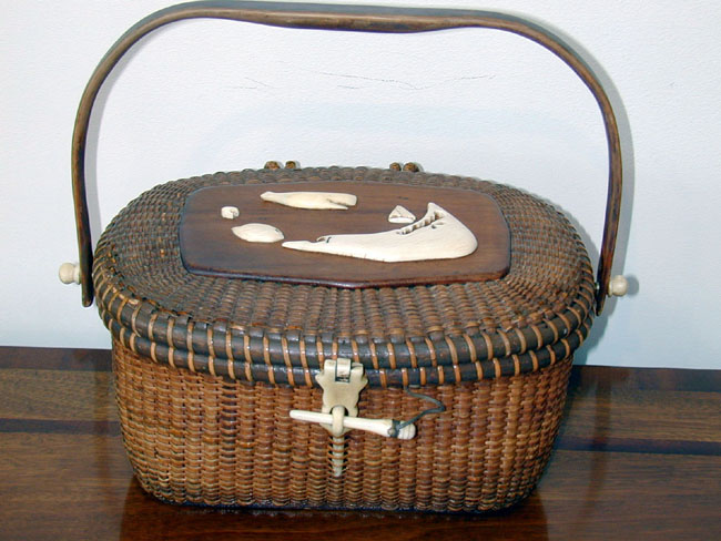 click to view larger image of Magnificent Nantucket 'Friendship' Basket made by Jose Formosa Reyes Circa 1950