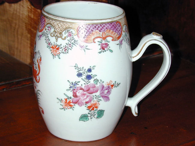 click to view larger image of A Late 19th Century Samson Armorial Mug with Handle
