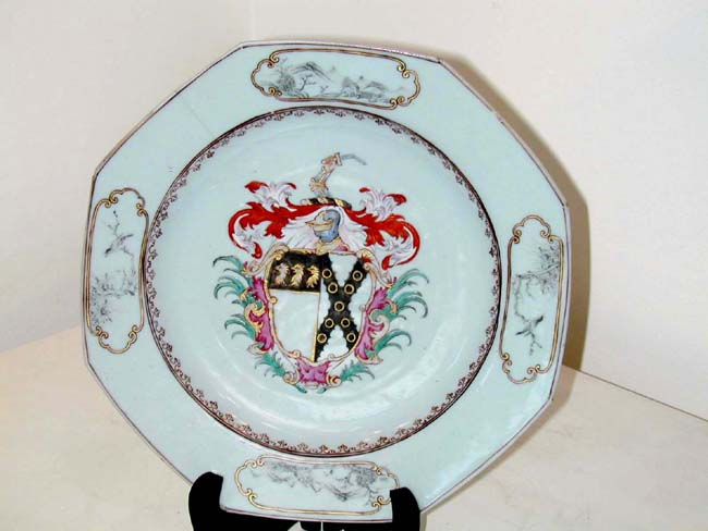 click to view larger image of Chinese Export Armorial Plate Circa 1740