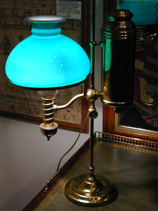 click to view larger image of Late 19th/Early 20th Century Manhattan Single Light Student Lamp