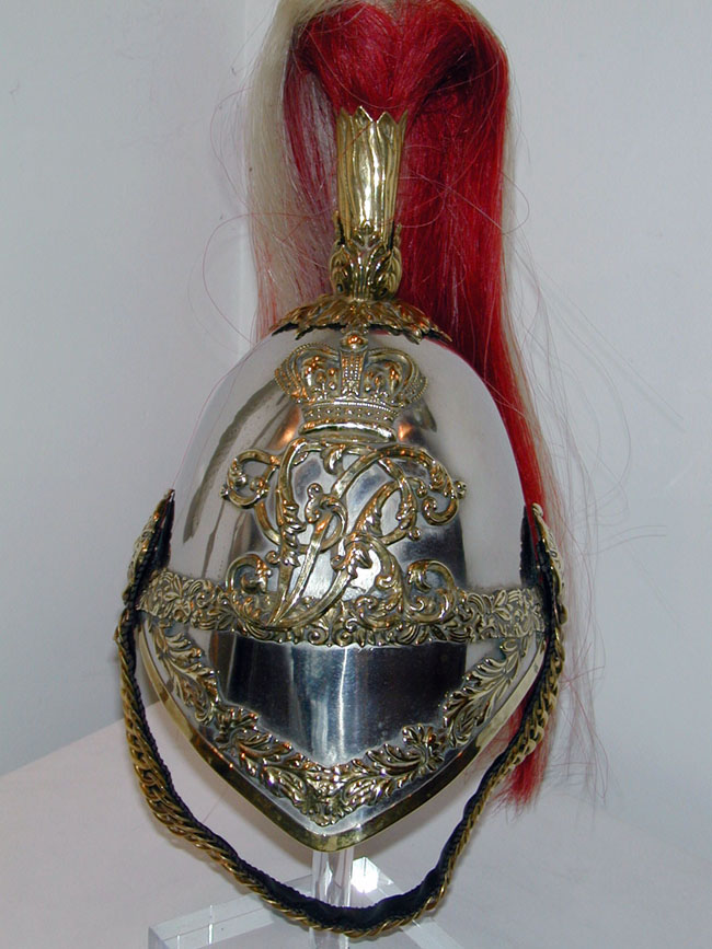 click to view larger image of Fine English 19th Century Cavalry Officer's Helmet circa 1860