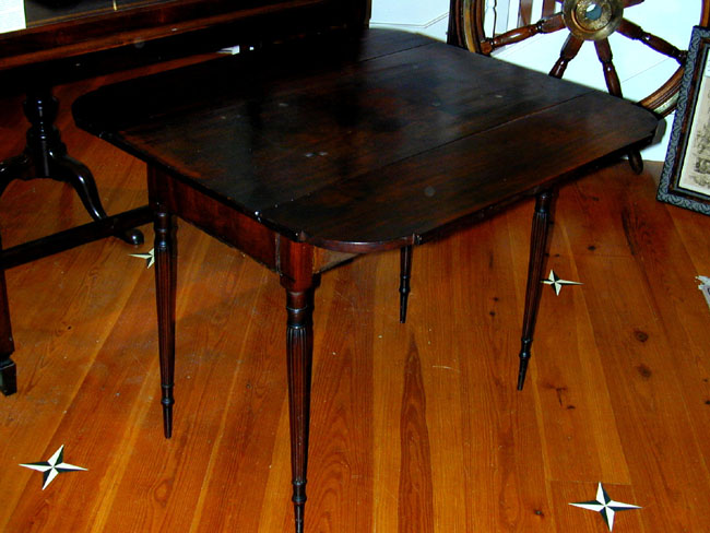 click to view larger image of Antique Federal Period Mahogany Pembroke Table Circa 1810